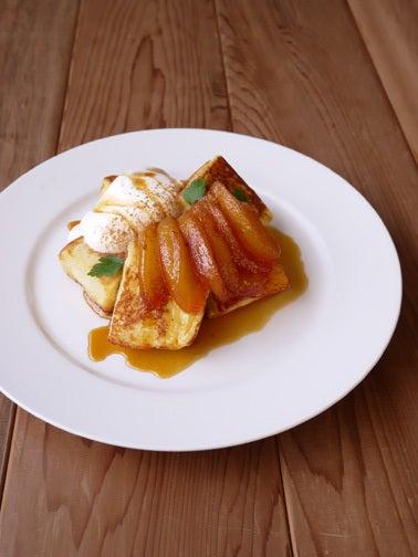 ひよこ食堂-りんごのキャラメリゼのせフレンチトースト03