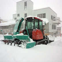 今冬、最初の除雪!