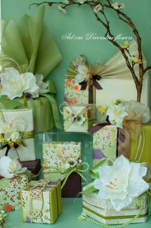 Step by Step with Flowers ~  ACT ONE Decorative Flowersのフラワー&ラッピング ~