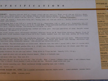 $1959PORSCHE356Aのブログ-55年英文裏面スペック