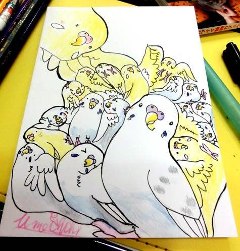 ようこそ!とりみカフェ!!~鳥カフェでの出来事や鳥写真~-鳥まみれ組み絵!~インコいっぱい~