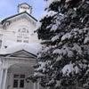 北大キャンパスは雪景色の画像
