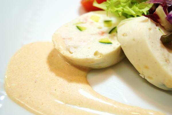 食べて飲んで観て読んだコト+レストラン・カザマ-帆立貝とタラバ蟹のセルベラ