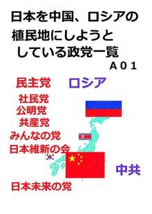 $日本人の進路-日本の植民地化推進政党