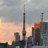 レインボーブリッジと東京タワーの画像