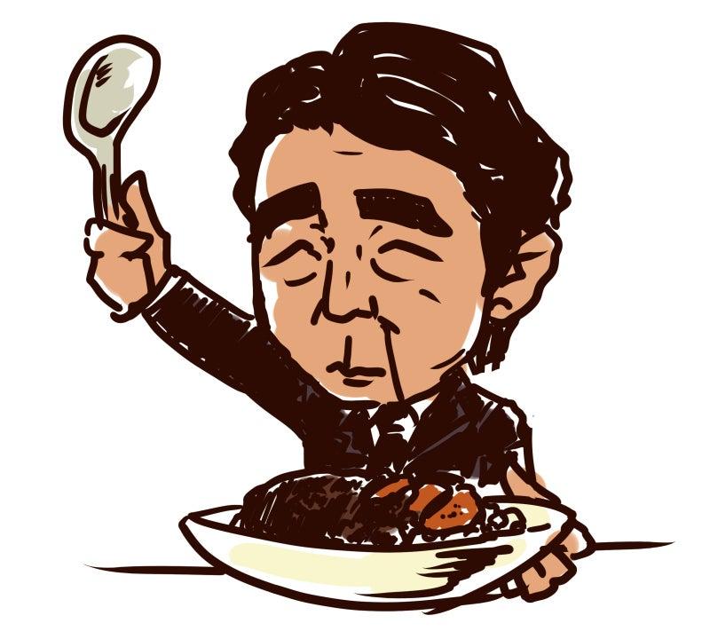 千ノ骨-安倍晋三 総理 首相 自民党 総裁 イラスト 似顔絵