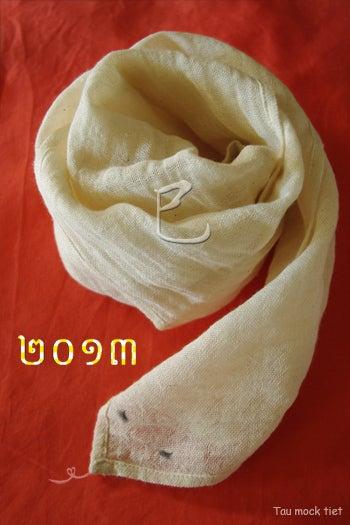 *カンボジアの綿クロマーと赤ちゃん帽子のお店*-クロマー2013Tau mock tiet