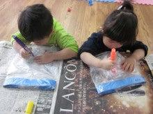 ふぇありぃ保育園のブログ-凧作り