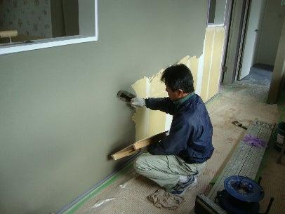 カフェの様に落ち着く・癒される部屋にリフォームして暮らす♪珪藻土・漆喰で 塗り壁施工。-漆喰塗り替え・羽曳野12