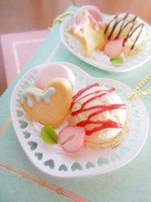 $sweetsdeco-rabbit-アイスクリームとマカロンのデザートディッシュ