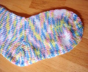 手編みのソックス