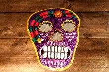 メキシカンスカル ブリキミラー S 紫