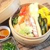 夕食☆いろいろお野菜と海鮮の蒸篭蒸し♪の画像