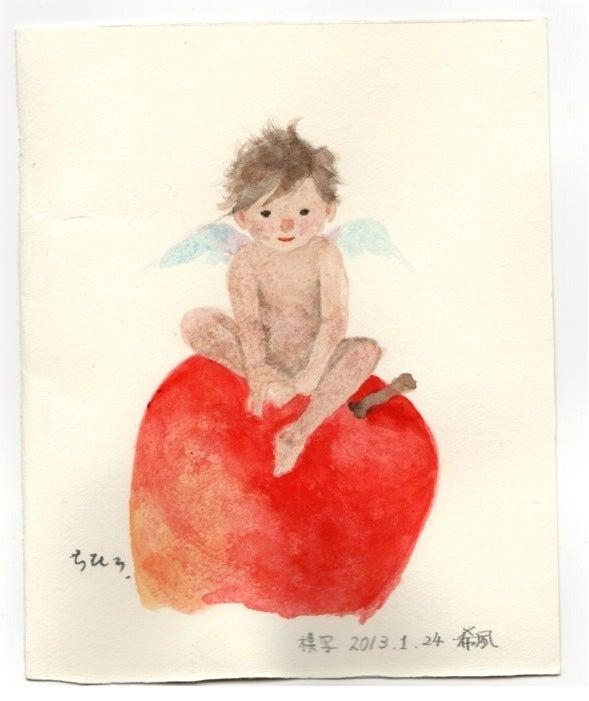 いわさきちひろ りんごと天使の模写 Kitutoの絵本とイラストと彡