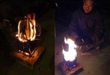 楽園管理人アツシの絵日記-最強のウッドストーブ、焚き火台04