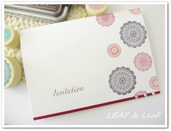 LEAF&LeaFの「手作りカード」な暮らし。/ 手作りペーパーアイテムのお店「LEAF&LeaF SHOP」-簡単手作り招待状