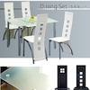 ガラスダイニングテーブル 5点セットの画像
