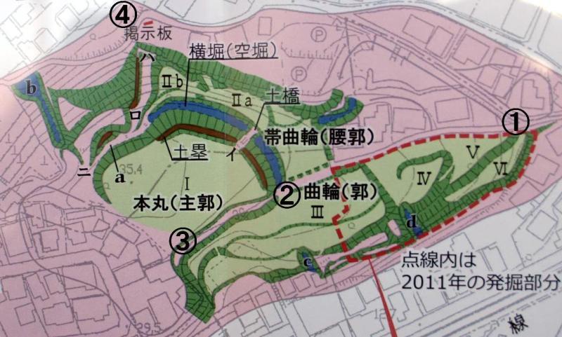 篠原城の図
