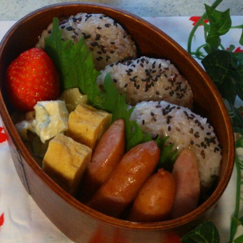 十六穀米おにぎり弁当♪ | blue G...