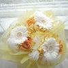 ●ガーベラとバラの羽根いりシェアブーケを福岡県の花嫁様へお届けしました。の画像