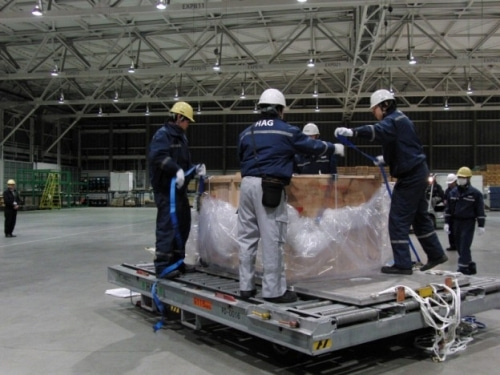 輸出の為の最終梱包