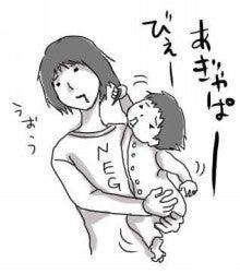 ★ミーコとミーナの育児絵日記★-1歳の寝ぐずり
