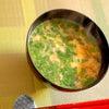 ニラ玉汁とキャベツラーメンの画像