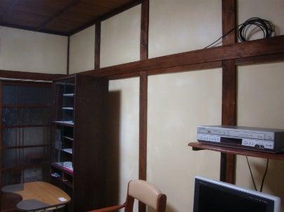 「カフェ・古民家の様な部屋にリフォーム」してゆったり暮らす♪珪藻土・漆喰で 塗り壁施工。-漆喰アフター5