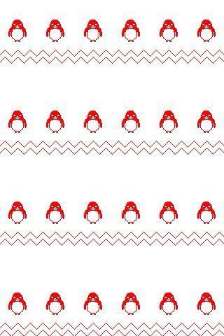 iPhone壁紙イラスト ペンギン