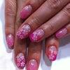 桜満開ネイル♥の画像