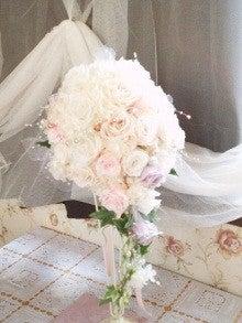 立川 フラワー教室 お好きなお花でアレンジしてインテリアや贈り物に アトリエクリスタルローズ-ウェデイングブーケ 生徒様の作品
