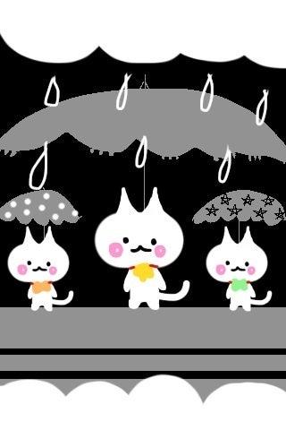 Iphone壁紙イラスト 傘猫 Tt O 人 Ttのブログ