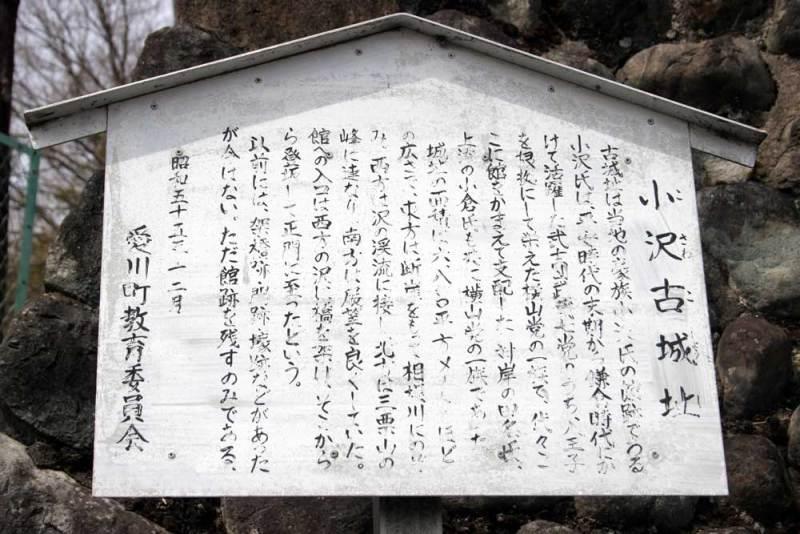小沢古城/説明板