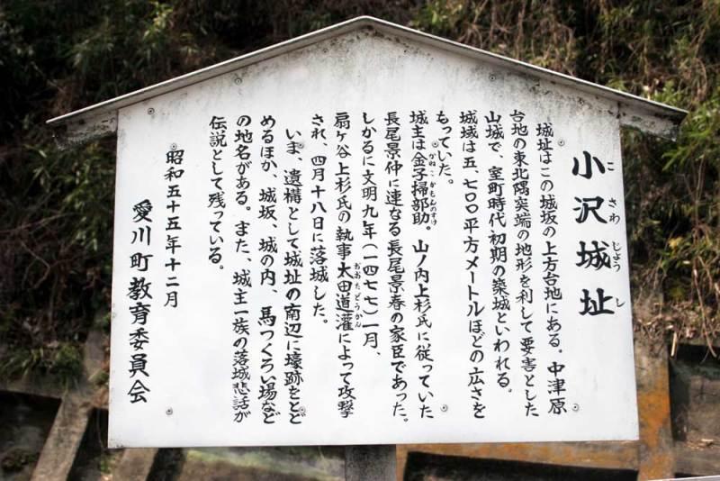 小沢城/説明板