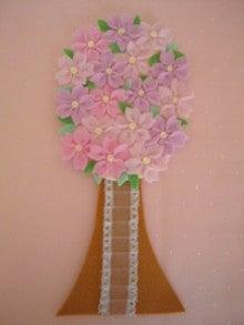 $Handmade glove  puppet          フェルトで指人形-立体の桜