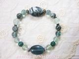 $創作天然石アクセサリーショップ*あなたの想いを形にする天然石の贈り物*ローズヴェルサイユ-セラフィナイト フローライト ブレスレット