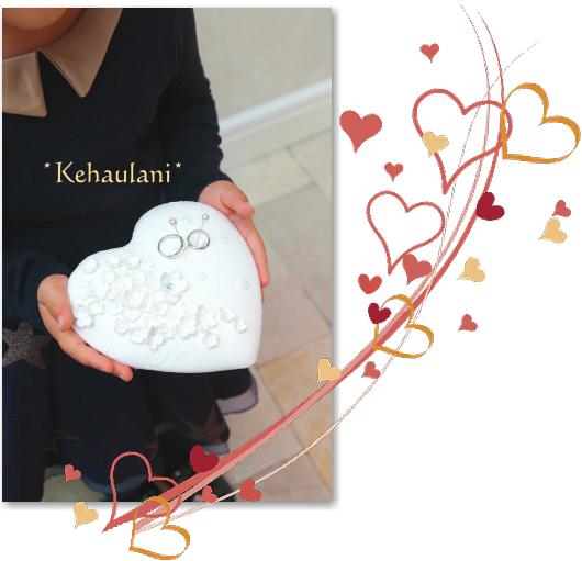神奈川湘南~DECOクレイ認定教室、ウエディングブーケBRIDES認定★ハンドクラフト教室★ケハウラニ-リングピロー ハート