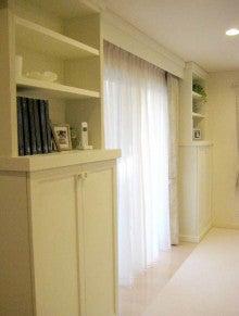 $オーダー家具・小物製作例 モダン・クラシック・カントリー・猫脚も木糸土にお任せ-白い本棚