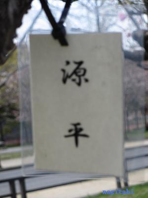 おねぎのブログ-14.「源平」のネームプレート