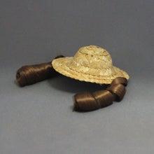 モルモットのウィッグ(麦わら帽子/ブラウンカール)