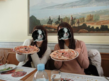 Pinkish Cheek-pizza
