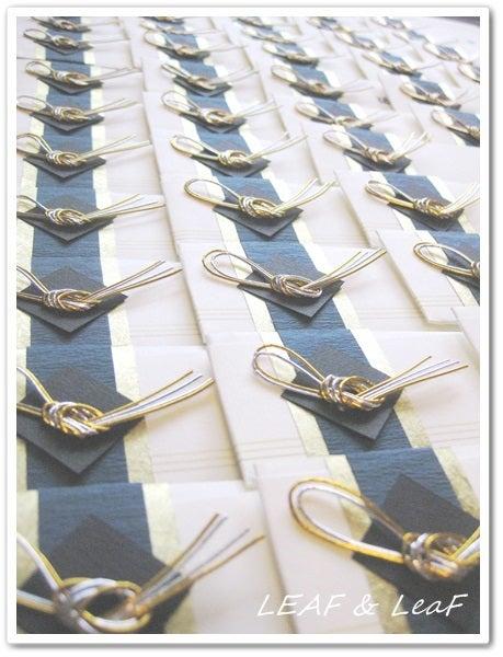 水引の箸袋席札