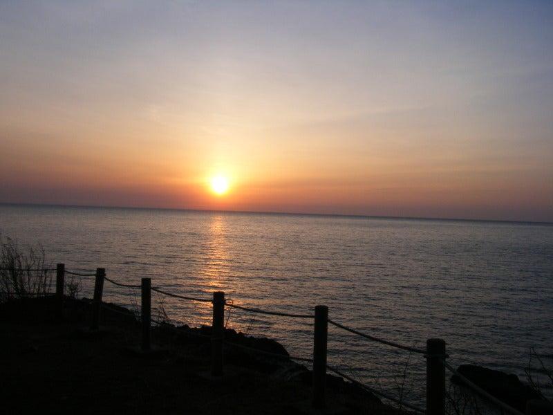 鹿の浦展望台からの夕日2013.4.5