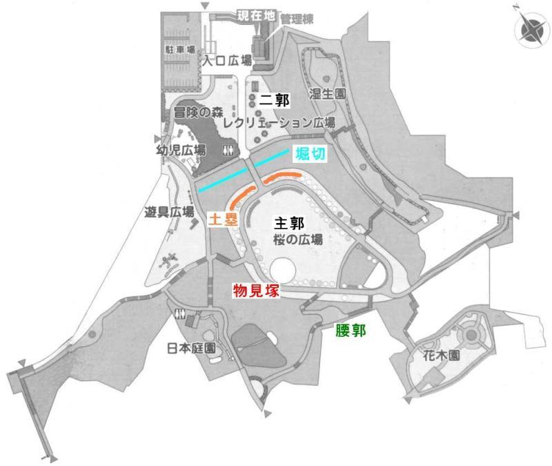 早川城/案内板の図を加工