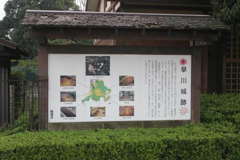 早川城/公園の案内板