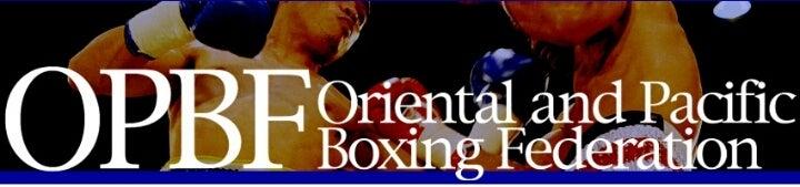 OPBF 東洋太平洋ボクシング連盟 ...