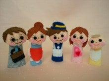 $Handmade glove  puppet          フェルトで指人形-おはなしゆびさん