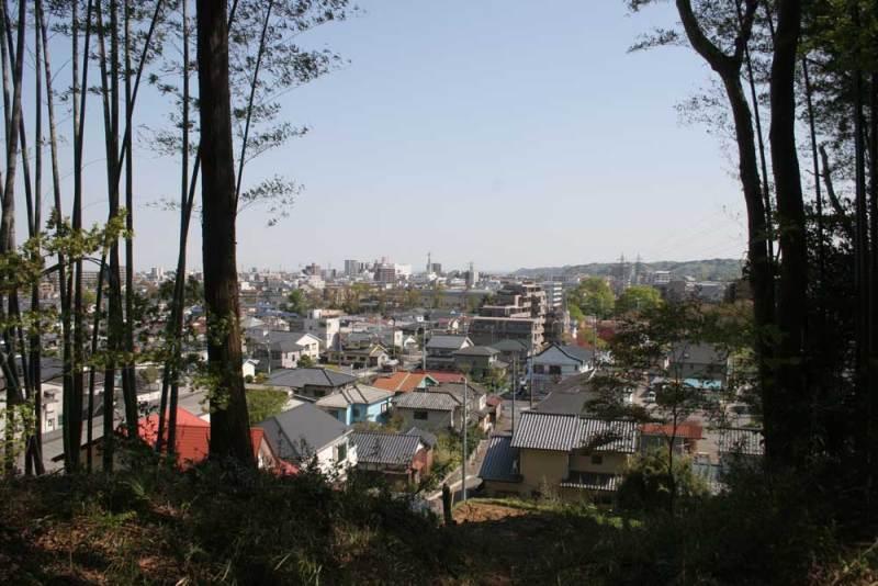 勝沼城/主郭南側からの眺め