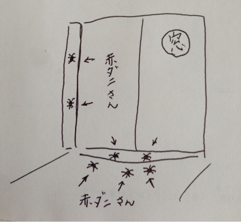 赤ダニ大発生(*_*) | PuruMuruのブログ