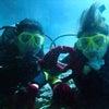 ハッピーウェディング&ハネムーンで来沖の新婚さんと青の洞窟体験ダイビング!テイクダイブ♪♪♪の画像